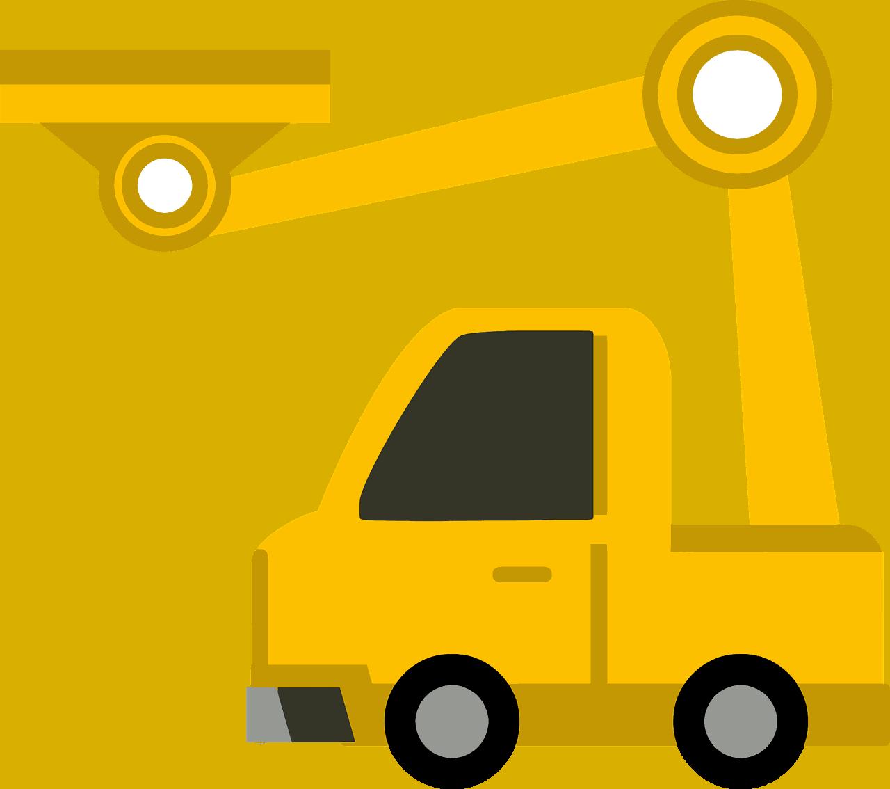 משאית עם מנוף