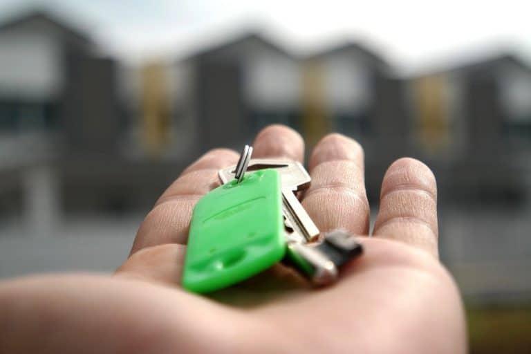 צרור מפתחות ירוק לבית
